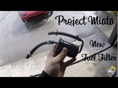 [TBQL_4184]  Project Miata: Installing a New Fuel Filter (Ep. 2) - YouTube   1990 Miata Fuel Filter Replacement      YouTube