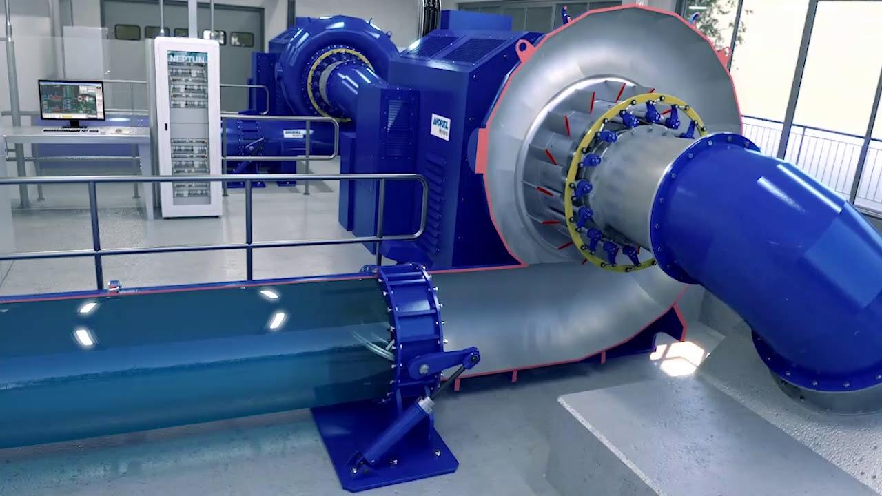 ANDRITZ Hydro turbine animation - Francis - YouTube
