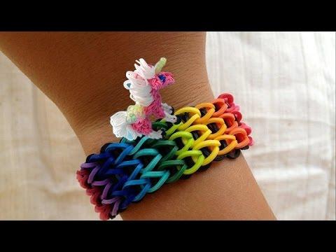 Rainbow Loom Amigurumi Unicorn : Unicorn Rainbow Loom Nederlands, armband - YouTube