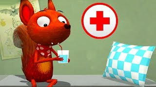 Children Learn How To Take Care Of Forest Animals - Fun Educational Game For Kids