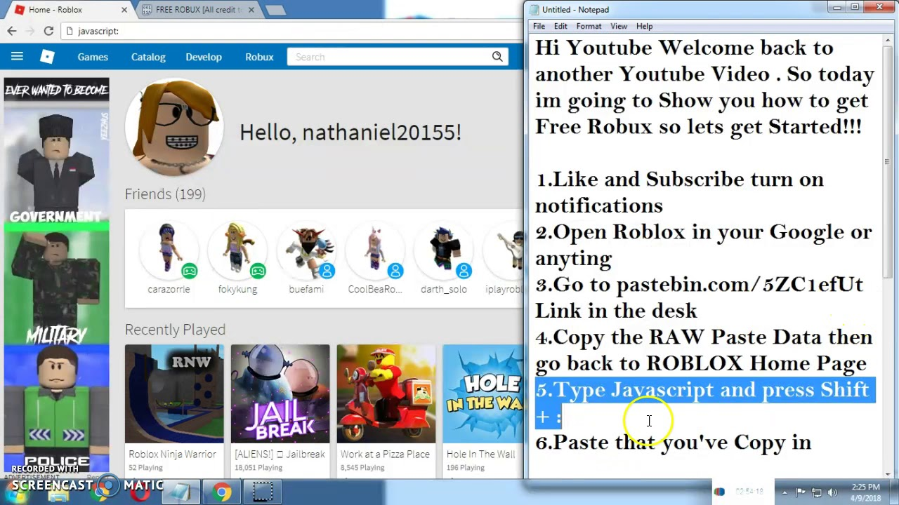 How to get Free Robux in ROBLOX No Inspect (Working 2018)