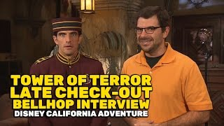 Twilight Zone Tower of Terror Late Check-Out bellhop interview at Disney California Adventure