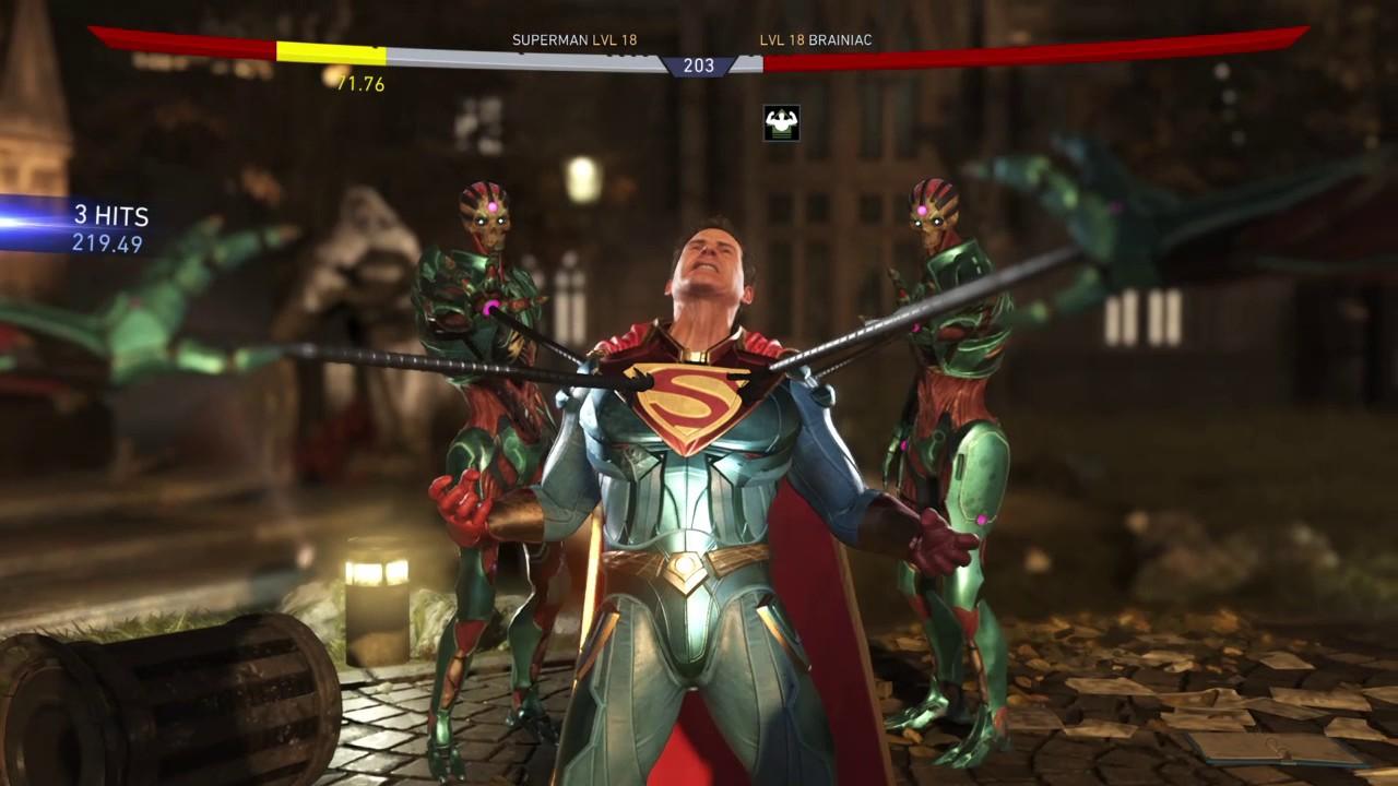 Image result for superman vs brainiac game injustice