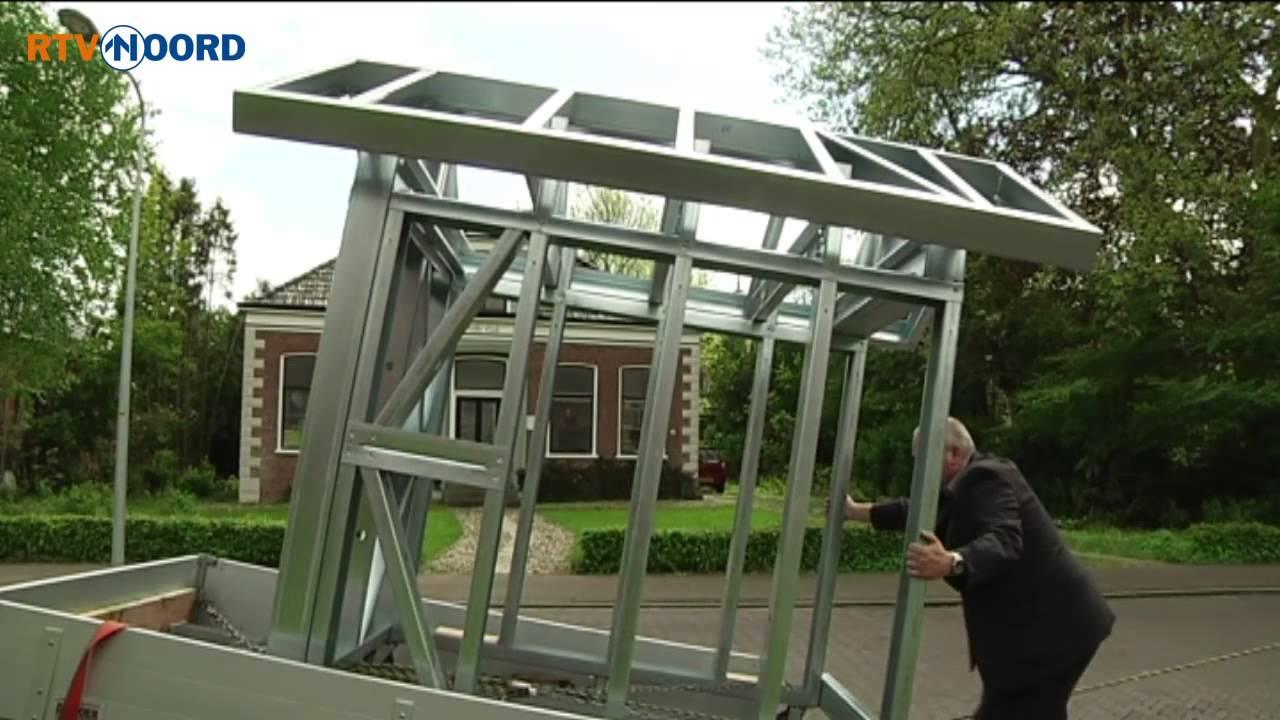stalen constructie moet huis aardbevingsbestendig maken