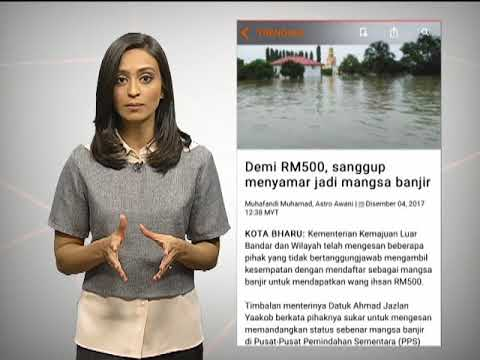 Awani Xpress: Gunung Agung Bali reda & tipu jadi mangsa banjir demi RM500