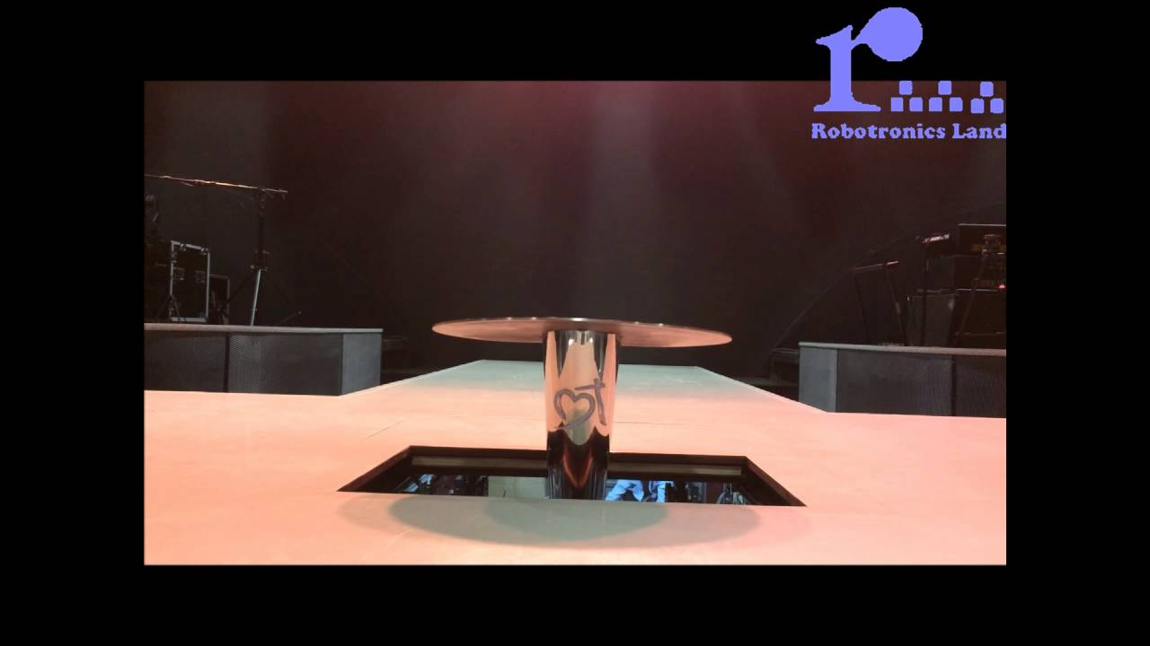 Motorised Stage Lift With Trap Door Robotronics Land Pte