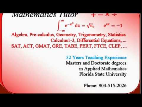 Jacksonville Math tutor