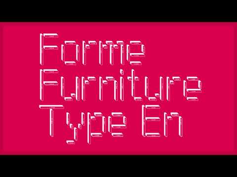 Furniture Type Fonts from Forme Type