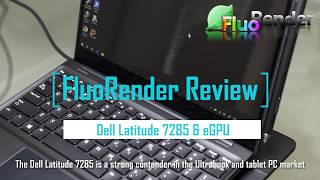 FluoRender review on Dell Latitude 7285 2-in-1 tablet PC and eGPU nVidia 1080