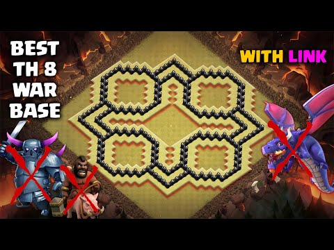 BEST TH8 WAR BASE LAYOUT 2020 | With Link | Defense Against Th9 GoWiPe/Dragons/Th8 DragLoon