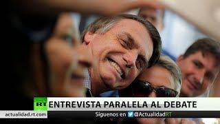 Los candidatos presidenciales de Brasil critican a Bolsonaro por su entrevista paralela al debate