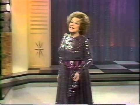 Ethel Merman, All By Myself, All Alone, 1978 TV Performance