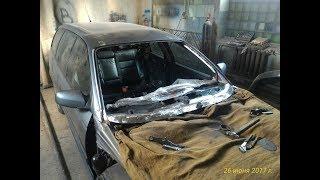 Opel Omega B. Жөндеу, раманың әйнегін. Repair of the windshield bracket.