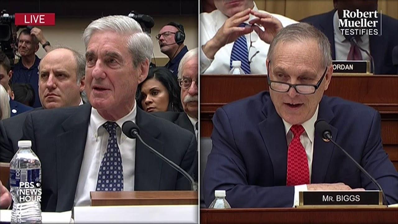 PBS WATCH: Rep. Andy Biggs's full questioning of Robert Mueller   Mueller testimony