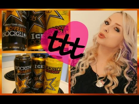 Trying Different Rockstar Energy Drinks