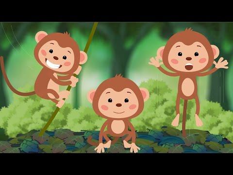 Five Little Monkeys Jumping On The Bed | Nursery Rhyme | Lyrics for Karaoke | 4K Ultra HD