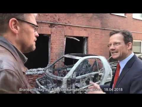 Brandanschlag auf AfD-Wahlkampfautos