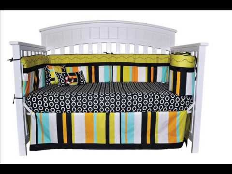 Unique Gender Neutral 10 Piece Beach Surf Baby Crib Bedding Set Unisex; Neutral Baby Bedding