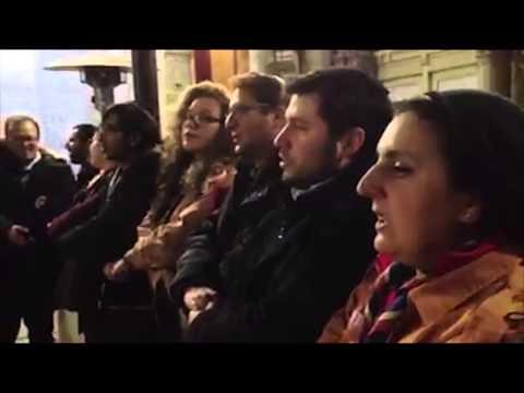 Chant Du Soir Des EEIF à La Synagogue De Paris Après La Marche Républicaine