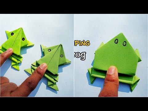 2 Easy Paper Jumping Frog || 2 Simple Origami Frog || DIY