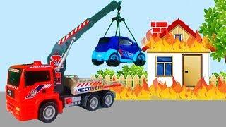 Мультики про машинки для детей - Трактор потерял Слайм - Пожарная машина тушит пожар