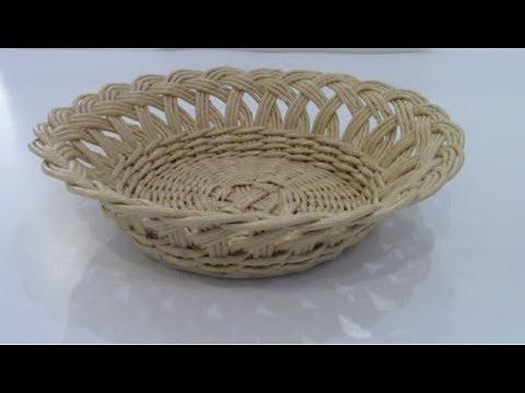 Тарелка с ажурной загибкой из бумажных трубочек