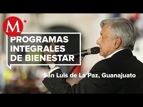 AMLO Presenta Programas De Bienestar En San Luis De La Paz, Guanajuato