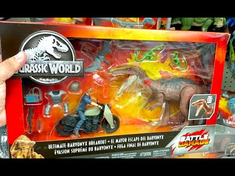 Jurassic World Toy Hunt - ULTIMATE BARYONYX Breakout - Conversation With A Dino Expert Kid @ Walmart