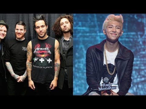 Pete Wentz revealed the story behind Fall Out Boy's collaboration with BTS' RM.