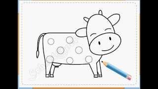 BÉ HỌA SĨ - Thực hành tập vẽ 53: Vẽ con bò sữa