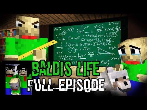 Monster School: BALDI'S LIFE FULL EPISODE SEASON 4 PART 1 - 3 (The Real Story) - Minecraft Animation