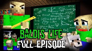Monster School: BALDI'S LIFE FULL EPISODE  PART 1 - 3 (The Real Story) - Minecraft Animation