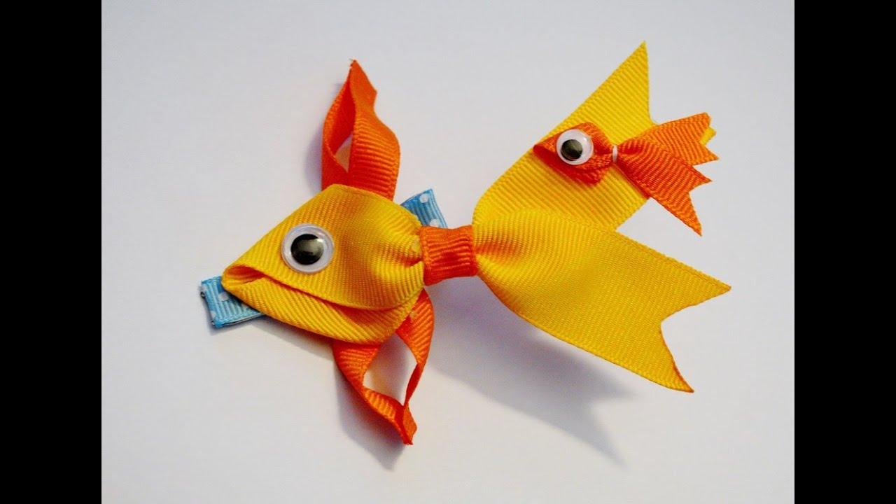 goldfish fish ribbon sculpture