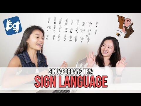 Singaporeans Try: Sign Language | EP 66