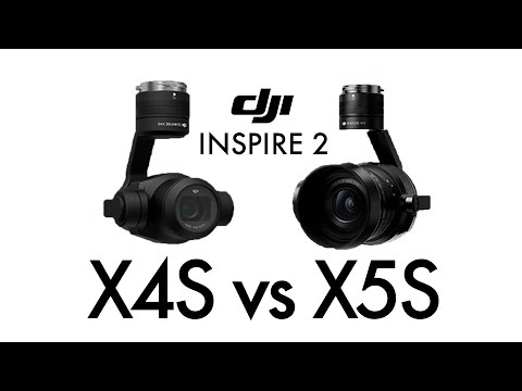 DJI Inspire 2 X4S vs X5S ultimate in-depth camera comparison