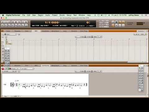 Create A TEMPO MAP for a measured performance in real time with MOTU's Digital Performer.