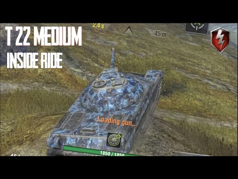 T-22 MEDIUM THE INSIDE RIDE WORLD OF TANKS BLITZ WITH BUSHKA thumbnail
