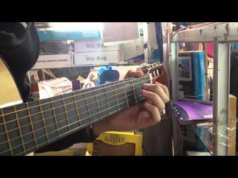 Oud arabic music on a acoustic guitar