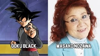 Characters and Voice Actors - Dragon Ball Xenoverse 2 (Japanese)