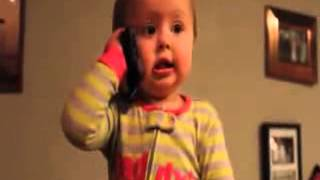 Funny Baby Talks To Dad . whatsapp funny clip