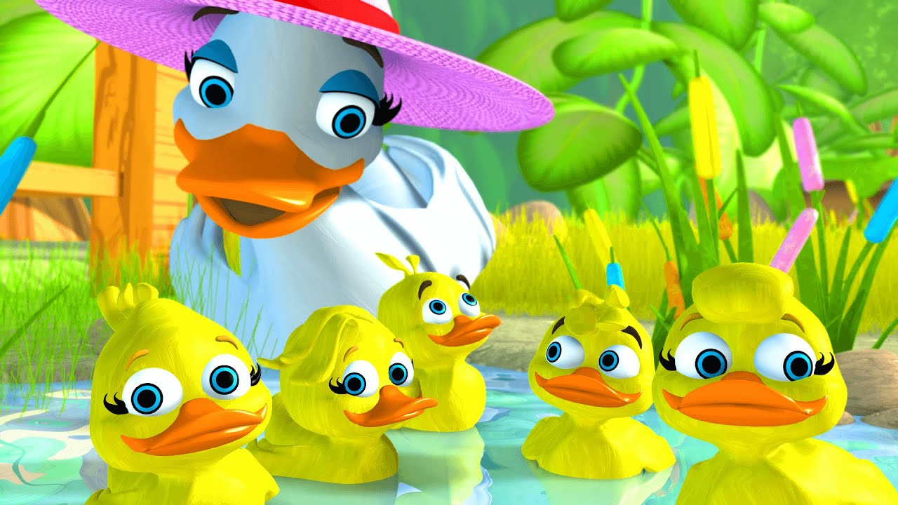 Five Little Ducks 5 Little Ducks English Song For Kids
