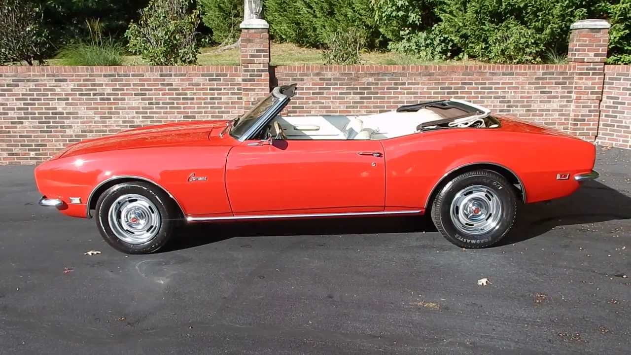 1968 Camaro Convertible, red, for sale Old Town Automobile in ...