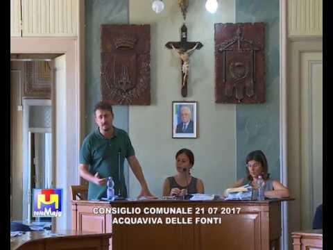Consiglio Comunale Acquaviva delle Fonti 21 07 2017