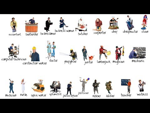 occupations picture vocabulary review youtube