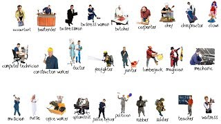 occupations picture vocabulary review
