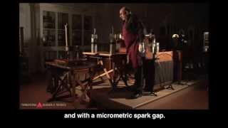 Tesla coil (high frequency resonant transformer)