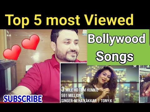 Pakistani Reacts on | TOP 5 Most viewed Songs in bollywood | Punjabi Hit Songs