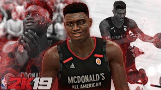 NBA 2K19 Zion's MyCAREER #1 - McDonalds All-American Game! Cam Reddish vs Zion Williamson