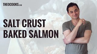 Succulent Showstopping Salt Crusted Salmon Recipe By Theo Michaels Masterchef