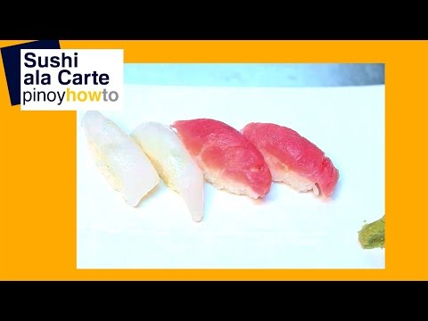 Sushi A La Carte- Road House Hotel GenSan | Pinoy How To